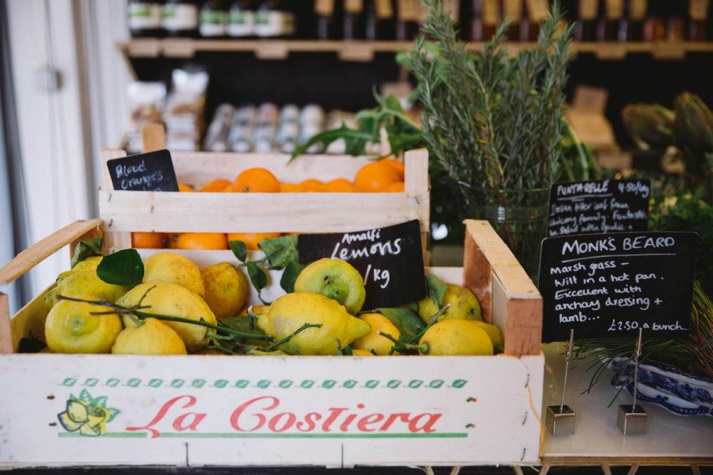 la gostiera lemons food stall market clerkenwell
