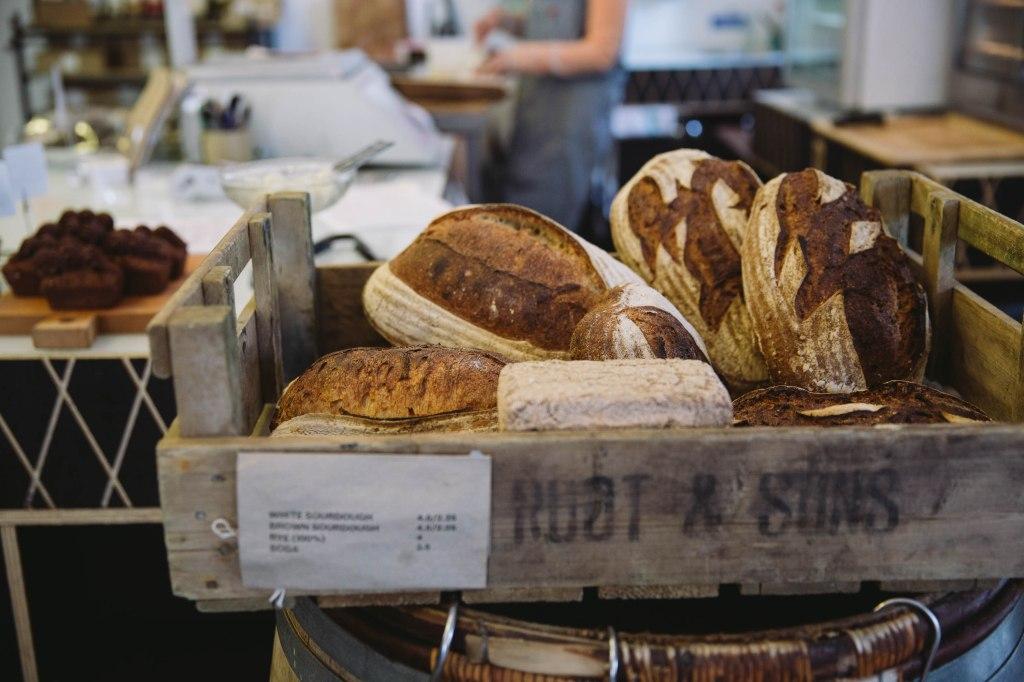 fresh bread close up clerkenwell