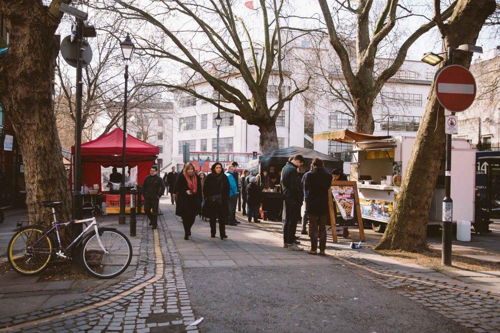 street food market in clerkenwell