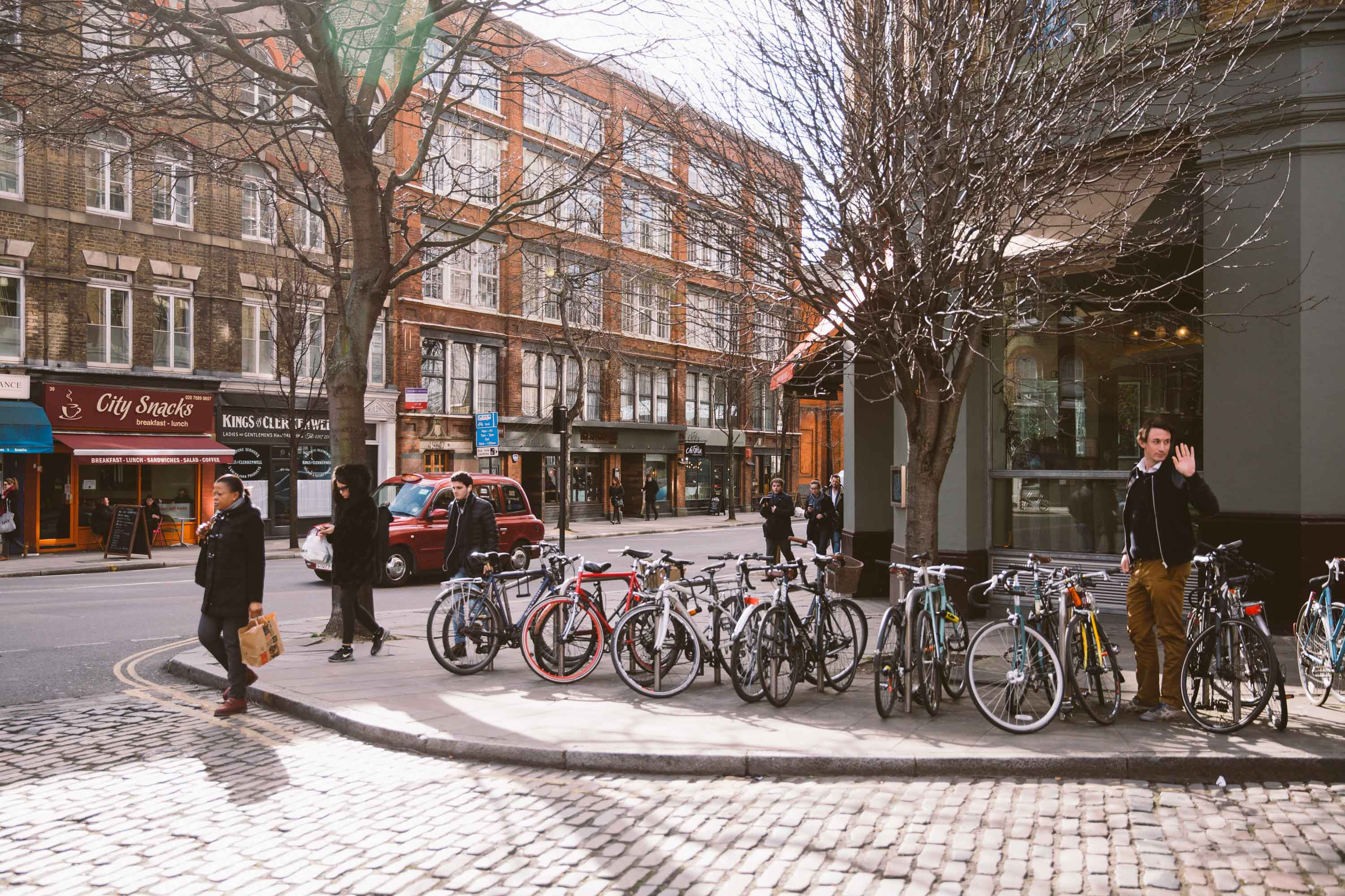 bicycles in clerkenwell