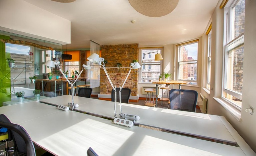 Huckletree office space clerkenwell bright windows