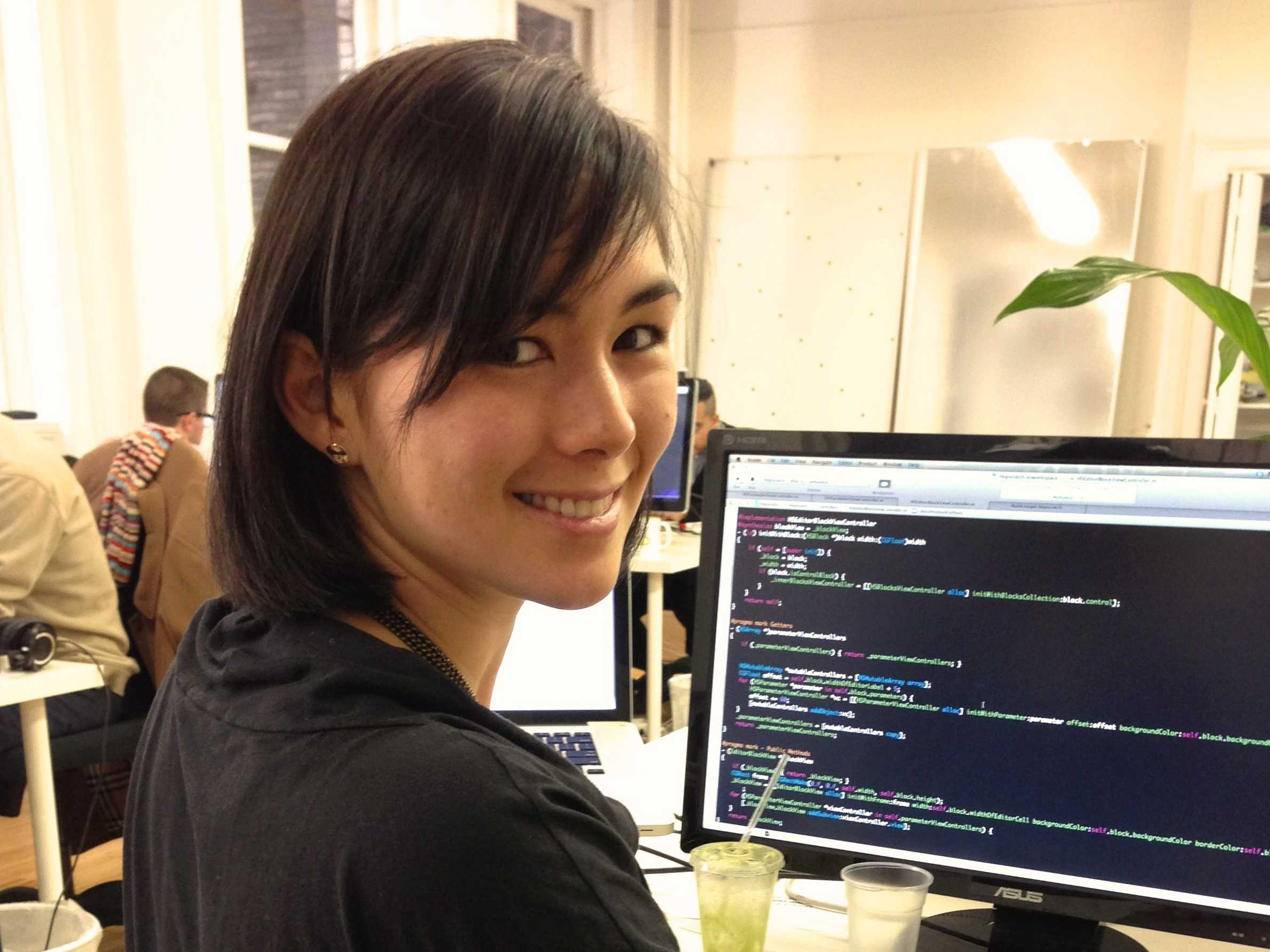 female developer coder