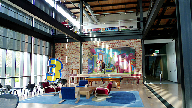 inside the office space at pixar studios