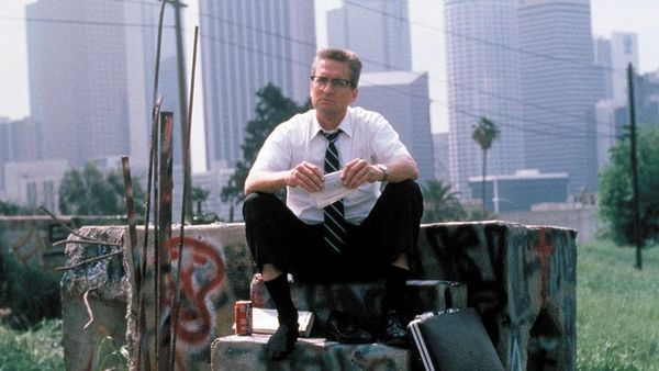 Falling Down getting frustrated with employees and colegues