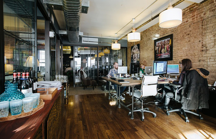 WeWork co-working area