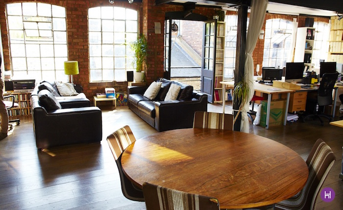 converted warehouse office-london