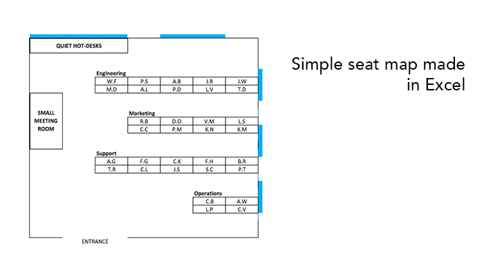 Excel seating map plan