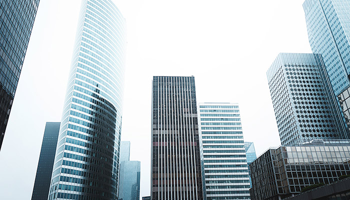 Commercial property buildings for corporations