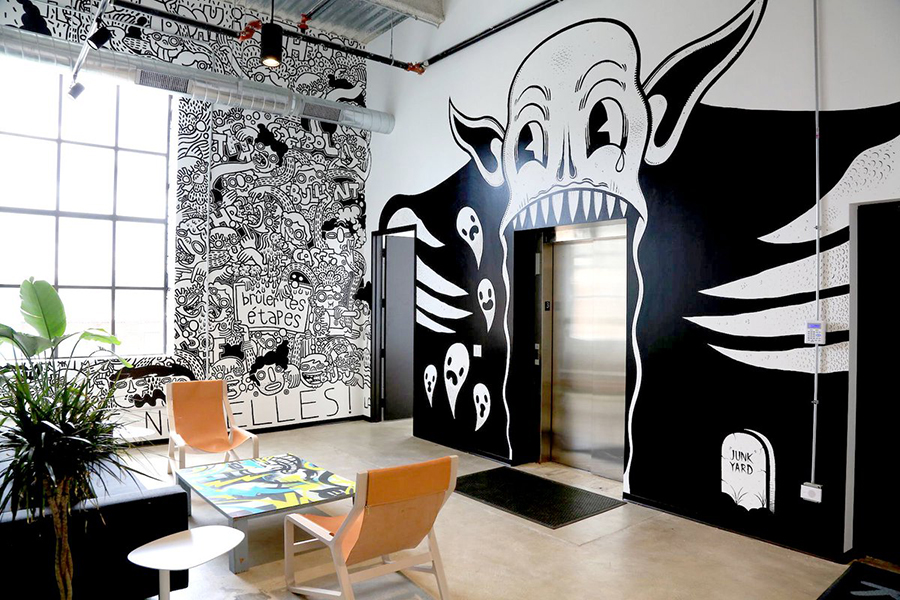 threadless-junk-yard-office-mural
