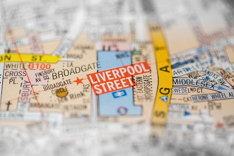 Liverpool Street map