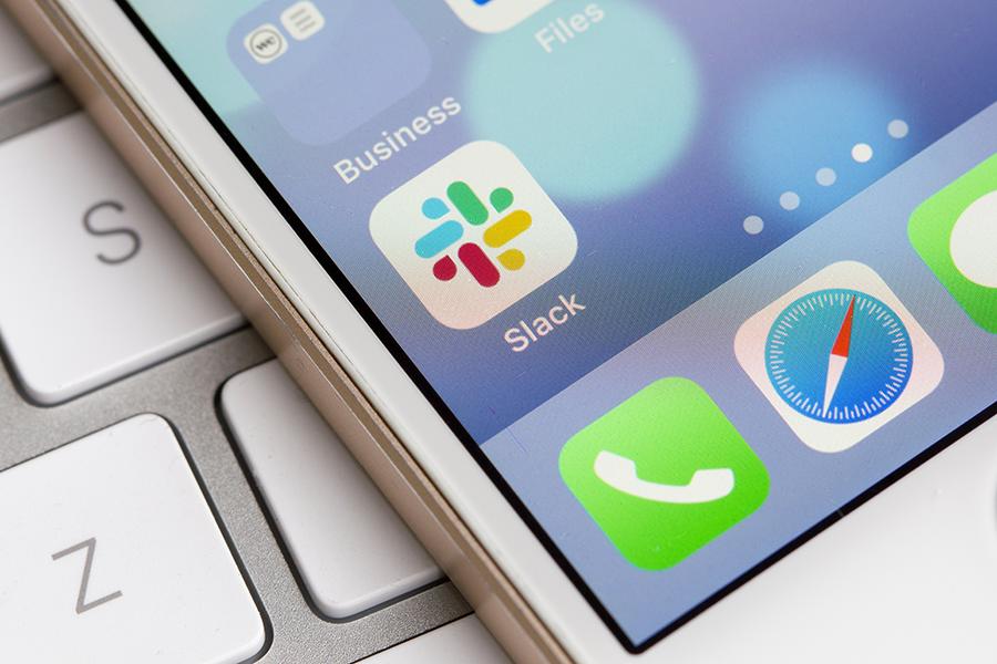 Slack app on someones phone